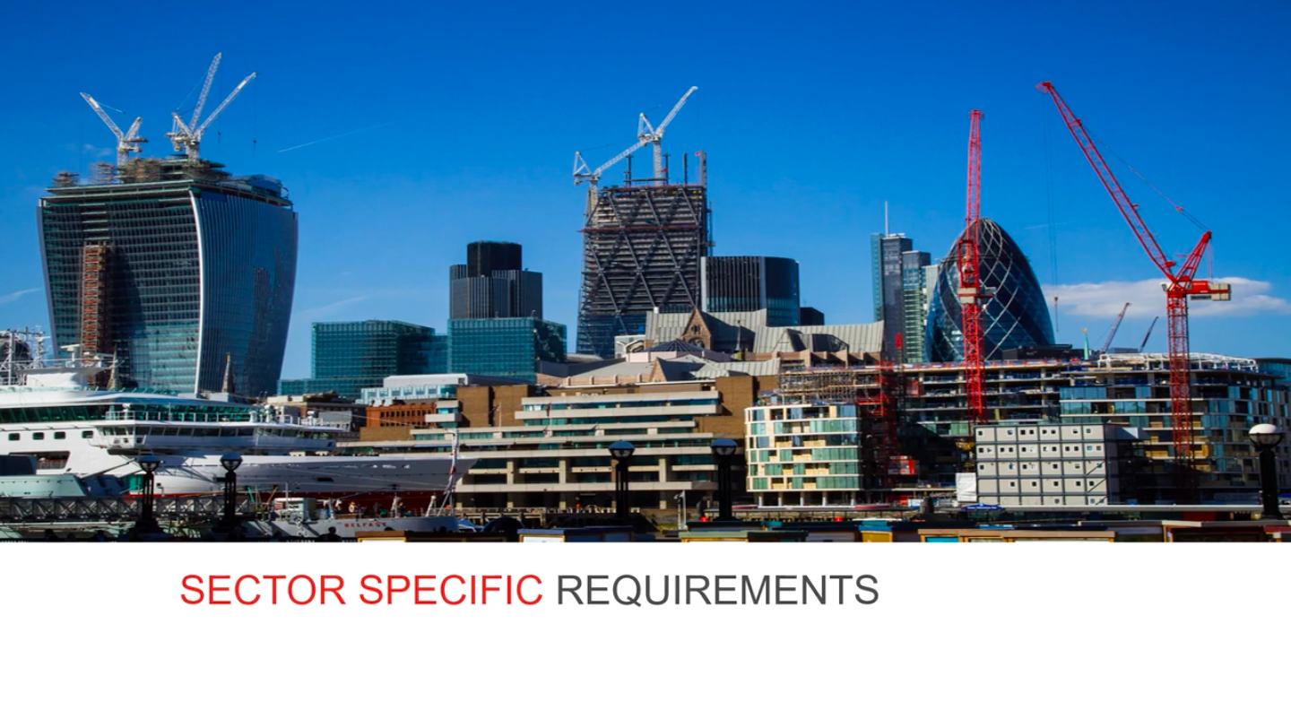 Construction specialties ABCs sector requirements