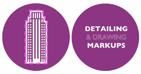 Diagram of detailing and drawing markups