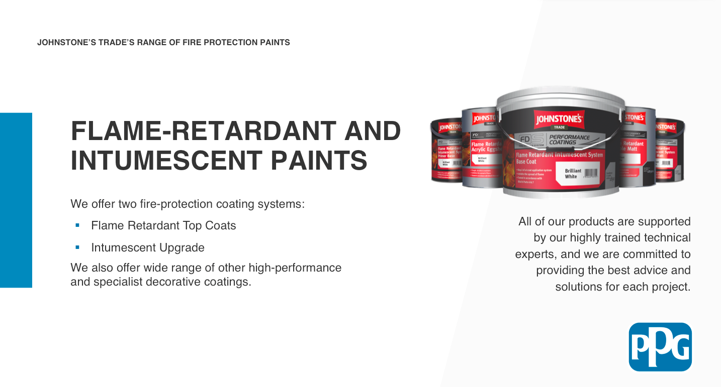 PPG CPD1 flame retardant and intumescent paints