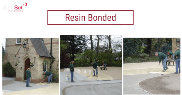 resin bonded paving for pavements
