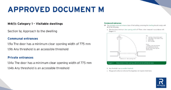 Document M's category 1 | visible dwellings
